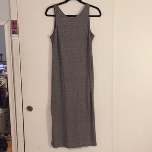 NWOT H&M Gray Marled Cotton Dress with Open Back